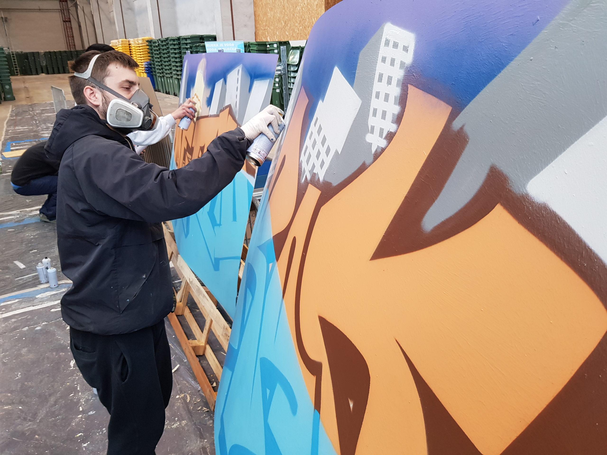 Izrada grafita za Svjetski dan voda