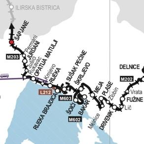Tijek pruge i raspored željezničkih kolodvora i stajališta