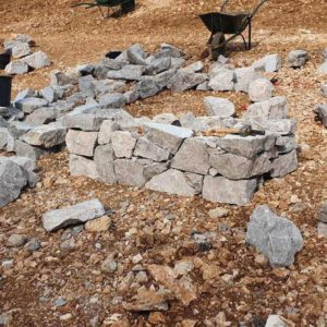 Izgradnja suhozida na Kampusu