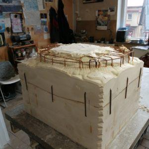 Radovi na umjetničkoj instalaciji Kapi u tvornici_izrada modela_2