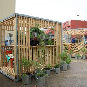 U Ulici Erazma Barčića postavljen prvi zeleni paviljon