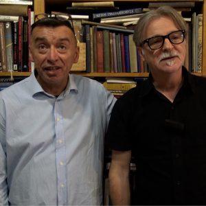 Saša Dmitrović i Tomo Vučinić iz Antikvarijata Mali neboder