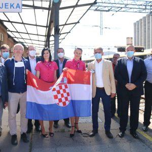 Doček čeških turista na Željezničkom kolodvoru