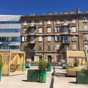 Drveni paviljoni na na Klobučarićevom trgu