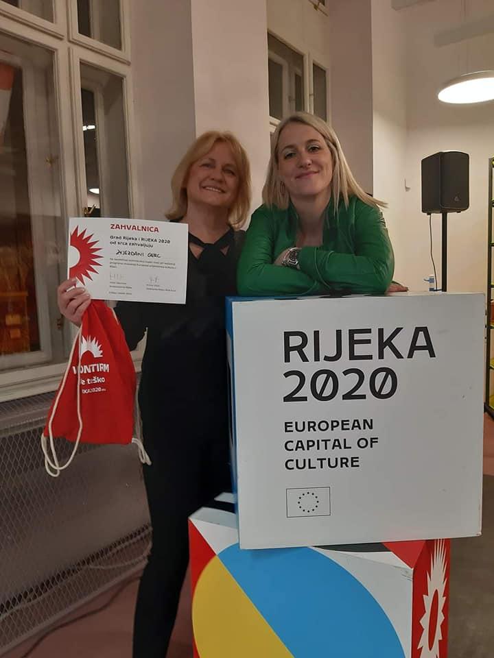 Volonterka Zvjezdana Gerc i koordinatorica volonterskog programa Asja Brusić