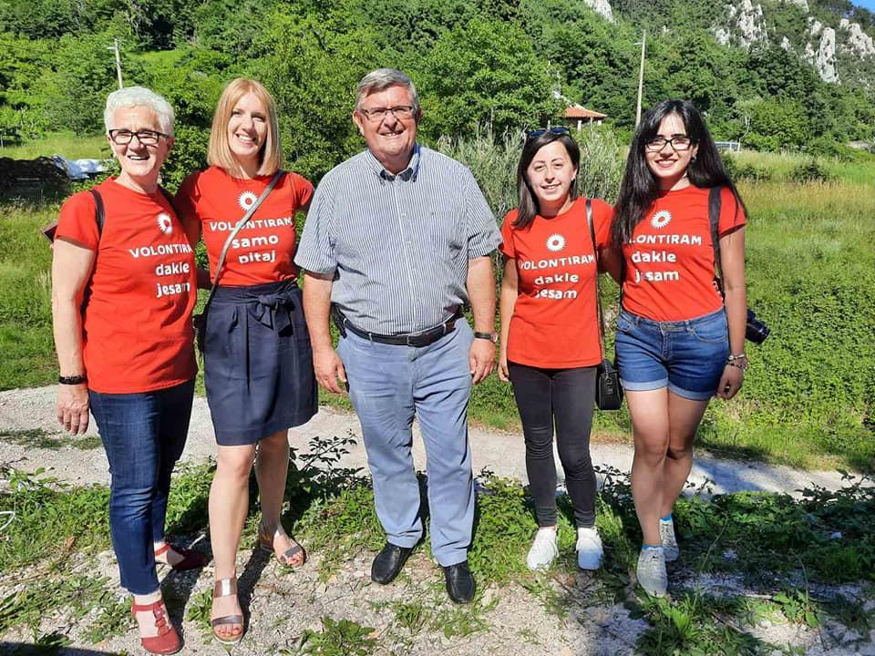 Volonterke s gradonačelnikom Rijeke Vojkom Obersnelom