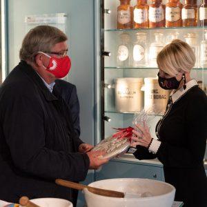 Gradonačelnik Vojko Obersnel u Muzeju farmacije