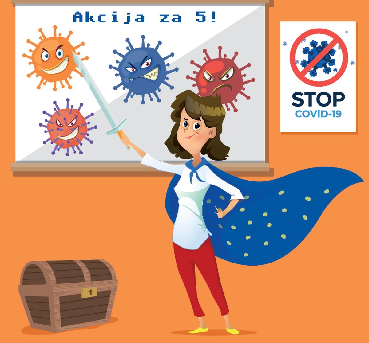 Akcija za 5! posvećena temi koronavirusa (autor Marko Laća)
