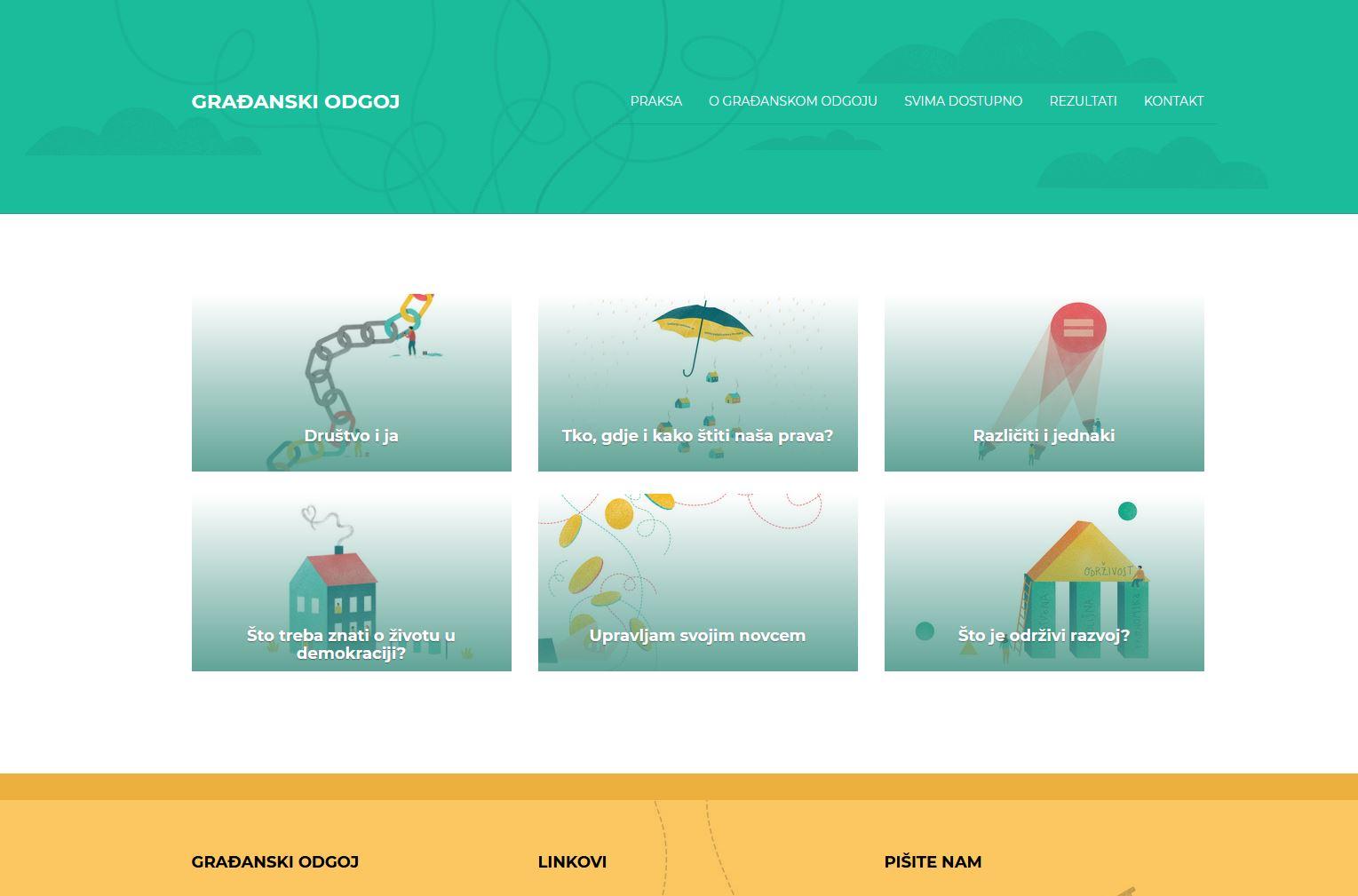 Naslovnica portala Građanskog odgoja i obrazovanja