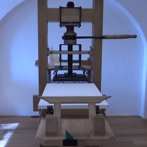 U Muzeju grada Rijeke održava se demonstzracija rada tiskarske preše