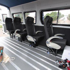 Sjedala se po potrebi mogu vrlo jednostavno izvaditi i montirati