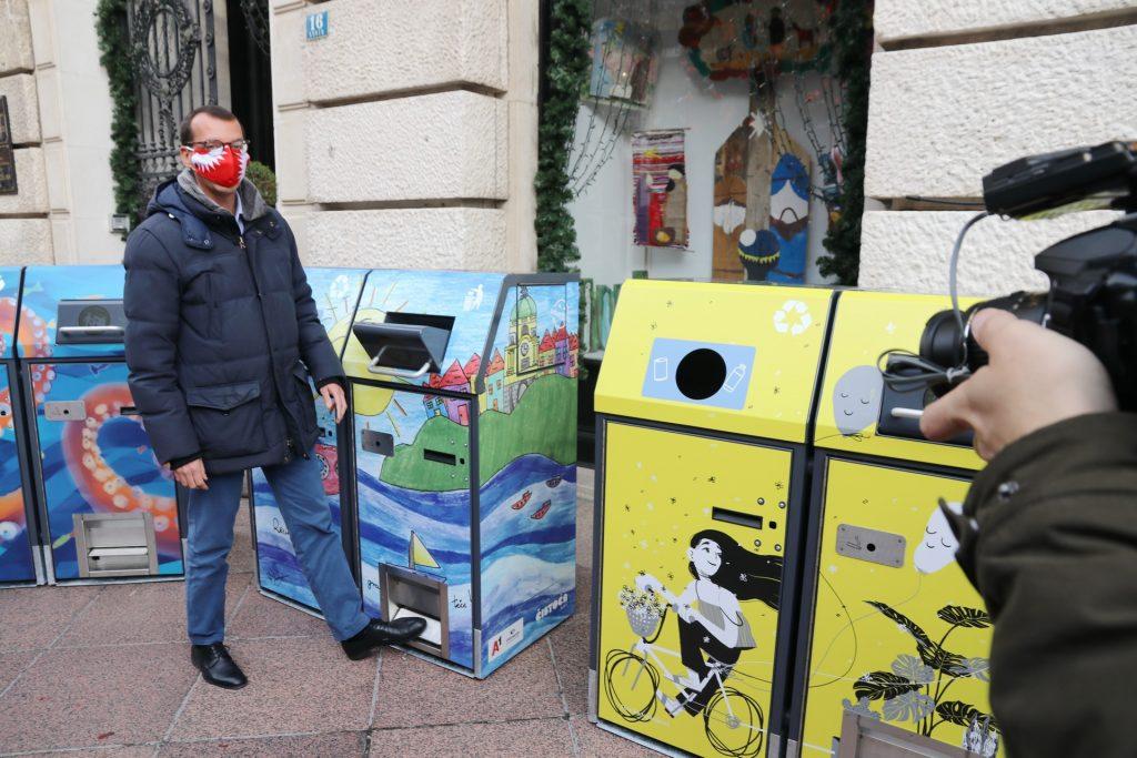 Zamjenik gradonačelnika Rijeke Marko Filipović na predstavljanju pametnih spremnika