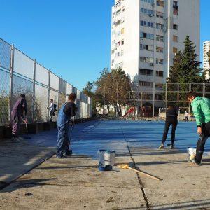 Zeleni val - projekt Oživimo igrališta na Belvederu