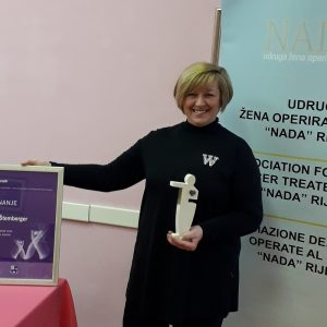 Vesna Štemberger - Udruga žena operiranih dojki Nada Rijeka