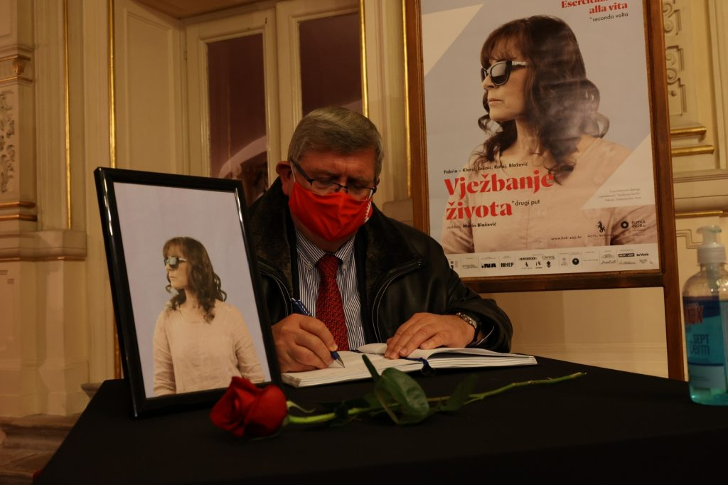 Gradonačelnik Vojko Obersnel na komemoraciji Miri Furlan