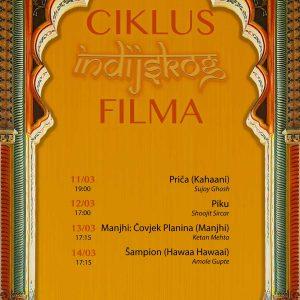 Ciklus indijskog filma - plakat