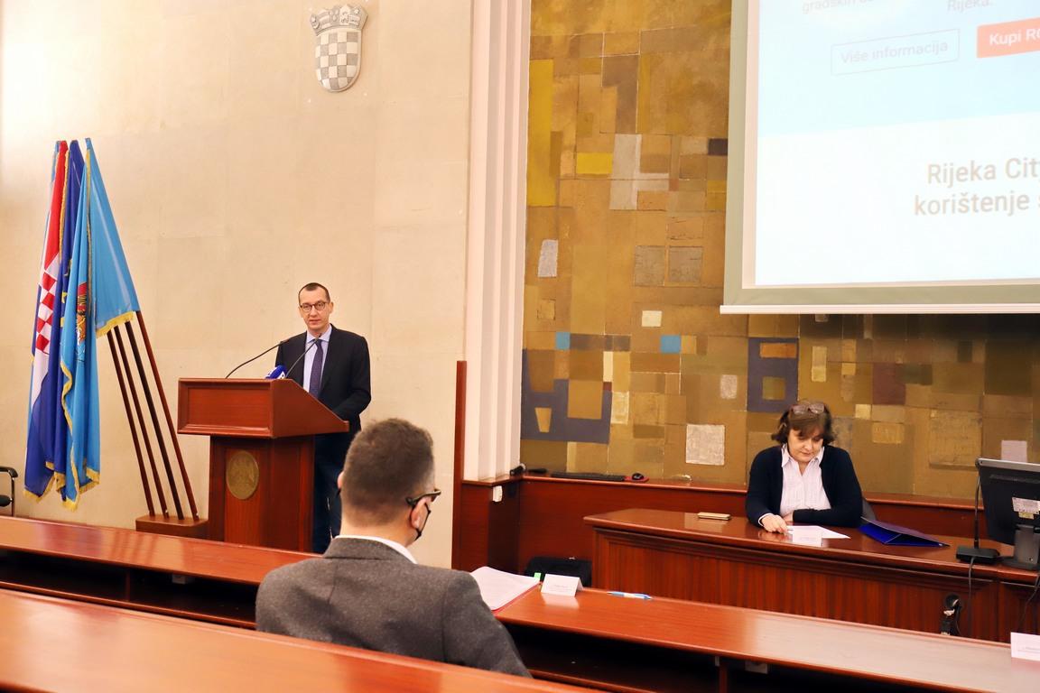 Zamjenik gradonačelnika Marko Filipović na predstavljanju nove web-trgovine