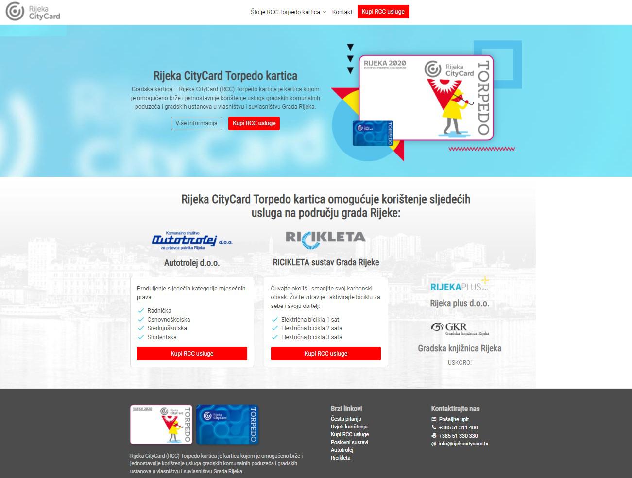 Pokrenuta web-trgovina Rijeka Citycard