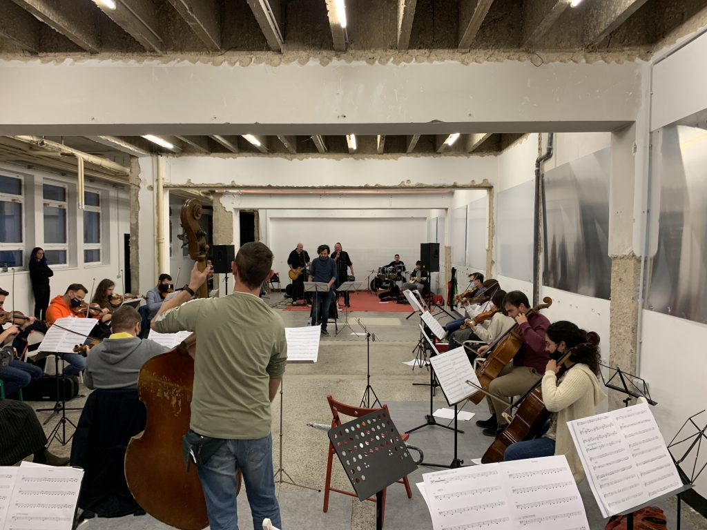 Grć i sekcija Riječkog simfonijskog orkestra / Foto: Rijeka 2020
