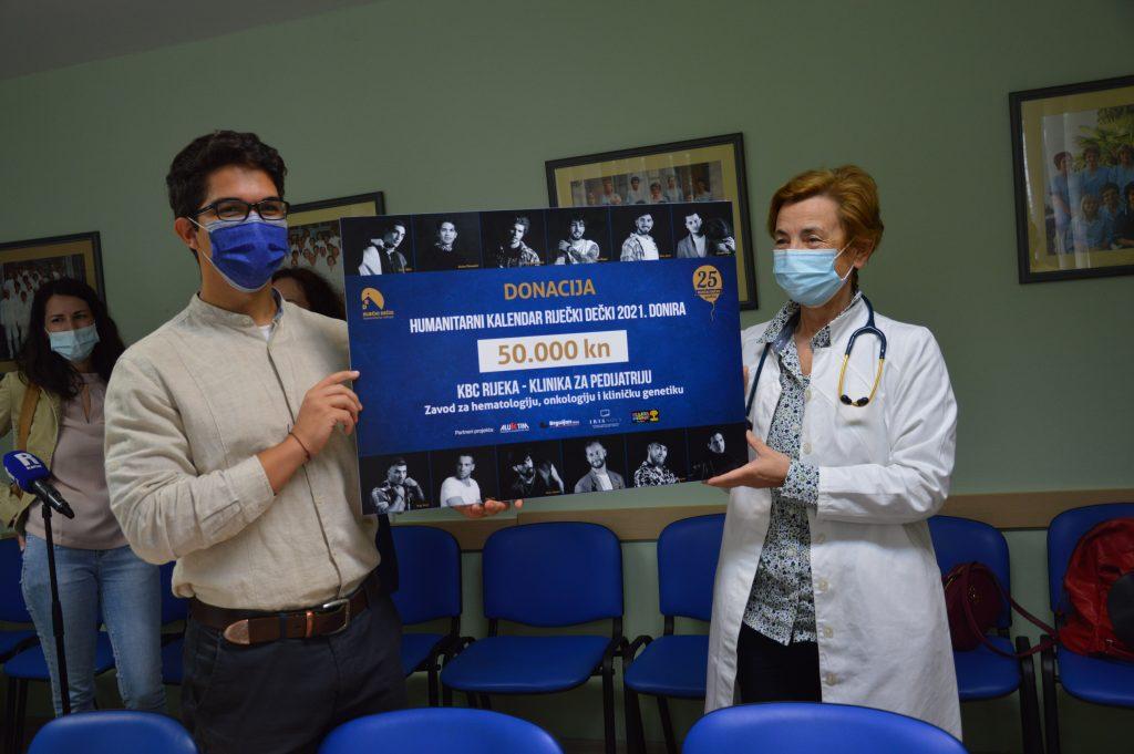 Dorijan Tokmadžić i profesorica Jelena Roganović / Foto Lidija Balog, press