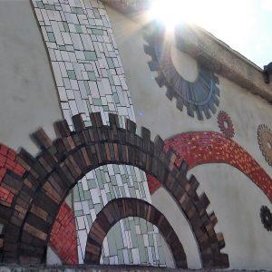 Mozaik volontera EPK na Molo longu